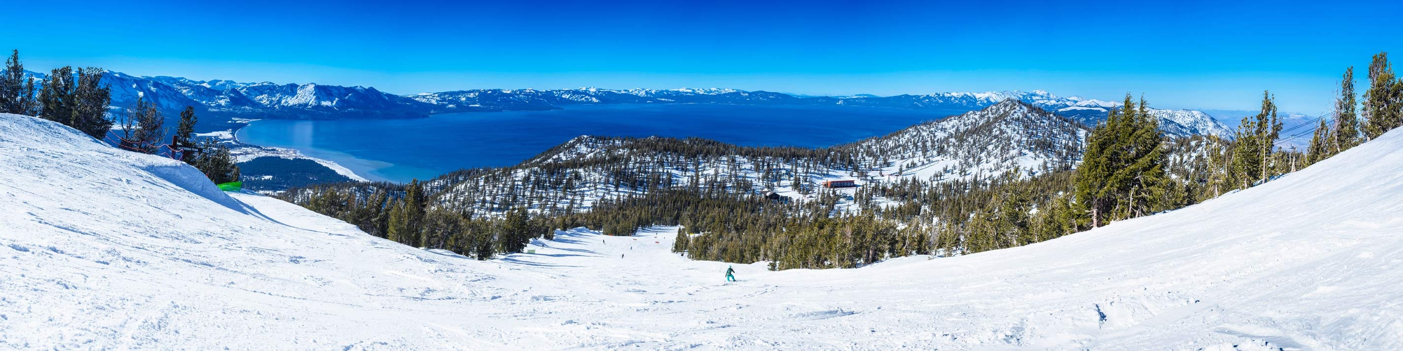 California Trail ski run at Heavenly Mountain Resort