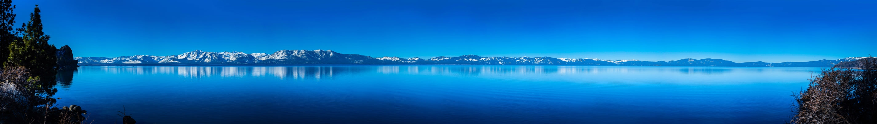 Winter morning at Lake Tahoe from the Nevada side