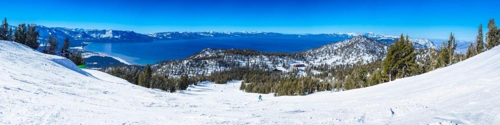 California Trail ski run at Heavenly Mountain Resort